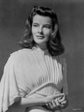 Katharine Hepburn Black Background Portrait