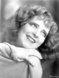 Clara Bow Looking Up in Close Up Portrait