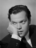 Orson Welles Leaning Chin On Hand in Classic