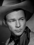 Roy Rogers posed in Portrait with Cowboy Hat