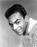 Johnny Mathis smiling in See Through Shirt