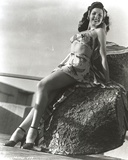 Ann Miller Posed Leaning in Classic Portrait