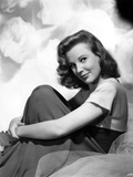 June Allyson Side View Pose Seated Portrait