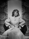 Barbara Stanwyck sitting Pose in Dress Portrait