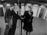 Saboteur Couple Holding Hands in Movie Scene