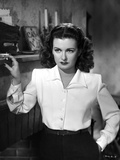 Joan Bennett on a Long Sleeve Stand Portrait