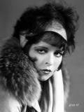 Clara Bow Posed in Fur Coat Classic Portrait