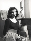 Debra Paget in Black Dress Black and White