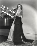 Loretta Young Long Gown with Black Long Ribbon