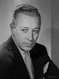 George Raft Posed in Suit with Straight Face