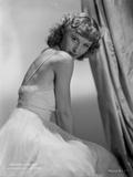 Barbara Stanwyck Classic Wedding Dress Portrait