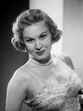 Virginia Mayo Posed in Dress with Pearl Necklace