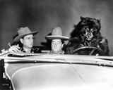 Abbott & Costello Riding a Car with a Bear
