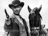 Lee Van Cleef Posed in Cowboy Suit With Horse