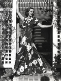 Loretta Young Maxi Flowers Dress Long Dress