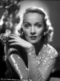 Marlene Dietrich Posed in Glossy Classic Sweater