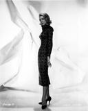 Inger Stevens Posed in a Printed Dress