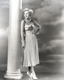 Joan Fontaine wearing a Strapless Dress