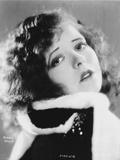 Clara Bow in Fur Coat Close up Portrait