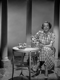 Joan Crawford Serving a Tea in Classic