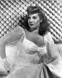 Dinah Shore Posed in See through Blazer