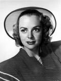 June Lockhart on a Dress Leaning Portrait