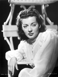Gail Russell Posed in White Long Sleeves