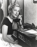 Joan Fontaine wearing a Polka Dot Scarf