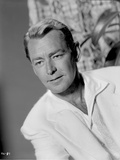 Alan Ladd Candid Shot in Black and White