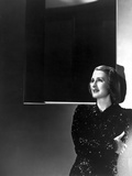 Norma Shearer Posed in Shimmering Dress