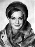Romy Schneider in Fur Coat and Fur Hat