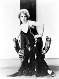 Clara Bow Posed in Black Dress Portrait