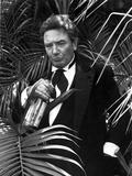 Albert Finney in Black Suit With Bottle