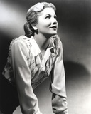 Joan Fontaine on a Beaded Top Portrait