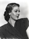 Loretta Young polka dot Black and White