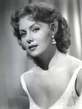 Rhonda Fleming Looking Side Ways in White
