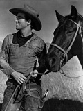 Montgomery Clift Posed in Cowboy Attire