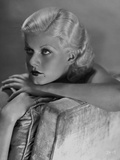 Jean Harlow Portrait Seated on the Couch
