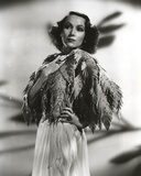 Dolores Del Rio Posed in Feather Dress