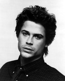 Rob Lowe in Black With White Background