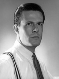 Robert Culp Posed in White Shirt and Tie