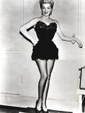 Lana Turner standing Pose in Black Gown