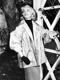 Lizabeth Scott Posed in Coat and Gloves