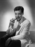 Orson Welles Smoking in Black and White