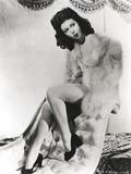 Ann Miller sitting in Fur Coat Portrait