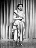 Ruth Roman wearing Gown Black and White