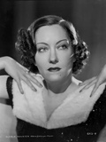 Gloria Swanson Posed wearing Fur Outfit
