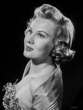 Virginia Mayo Posed with Black Background