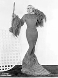 Mae West standing in Classic Long Gown