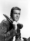 James Caan in Leather Jacket With Shotgun